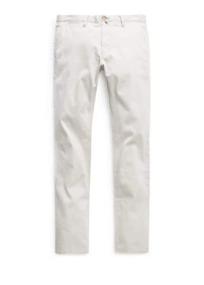Getextureerde slim-fit chino