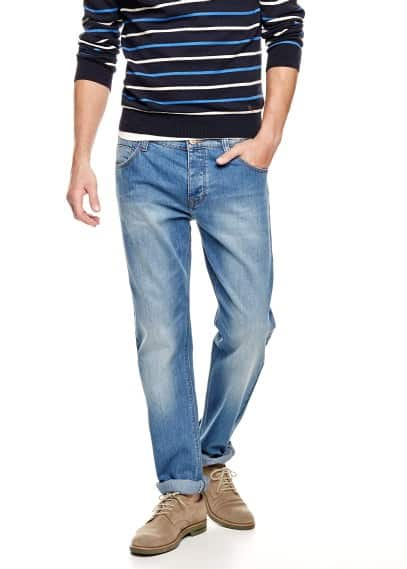 Bob straight-fit jeans met medium wassing