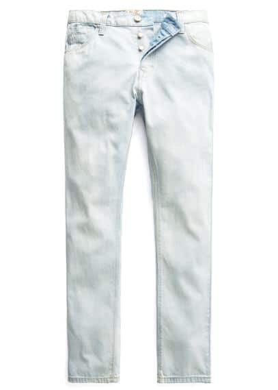 Bob straight-fit jeans met bleached wassing