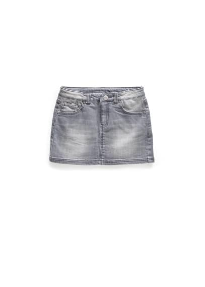 Jupe denim gris