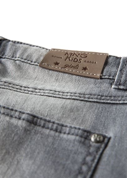 Falda denim gris