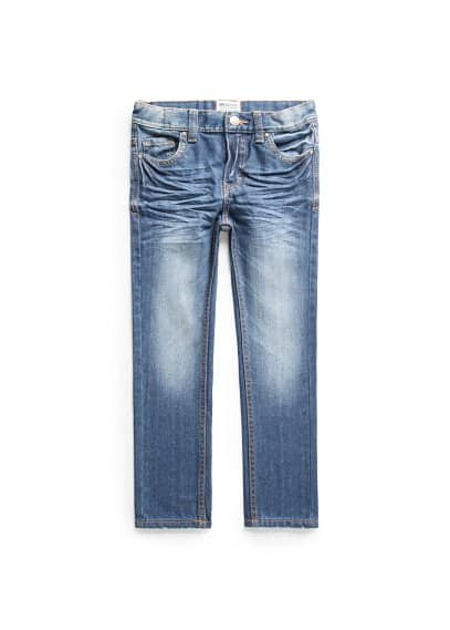 Straight-fit medium wash jeans