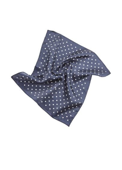 Polka-dot silk pocket square