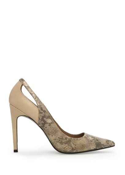 Snakeskin effect stiletto shoes
