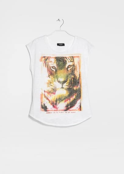 Printed devoré t-shirt