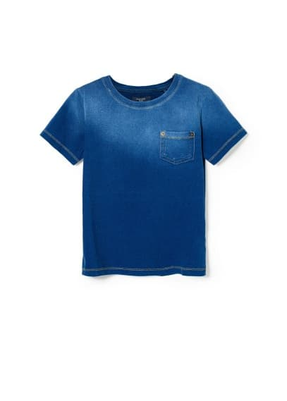 Ombré denim-effect t-shirt