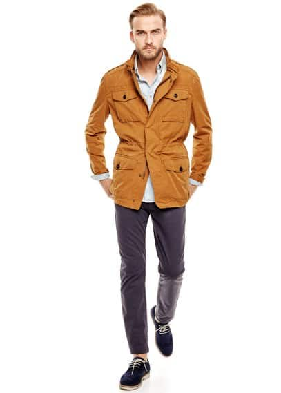 Quilted-lined field jacket