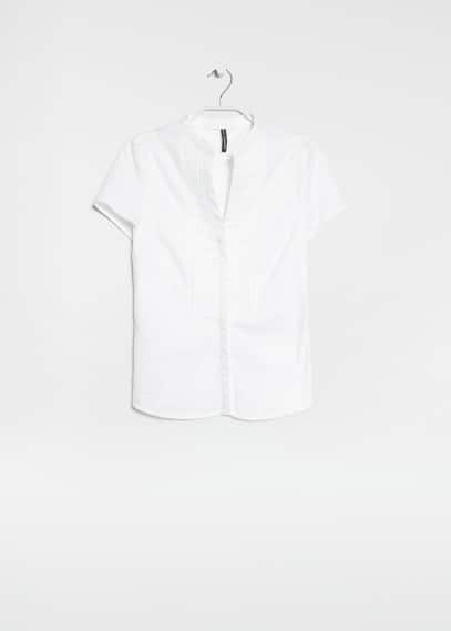 Tailored cotton shirt