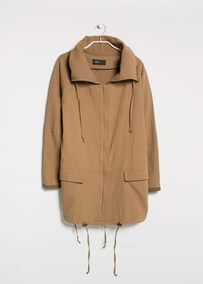 Wraparound neck parka