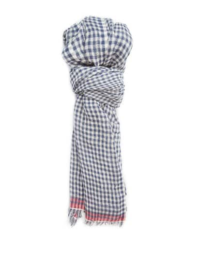 Gingham check scarf