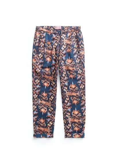 Animal ikat trousers