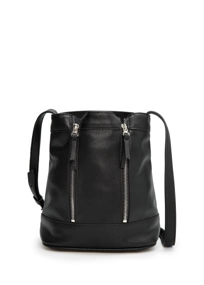 Bucket bag met ritsen