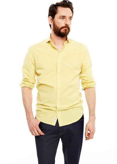 Camisa slim-fit quadrado vichy