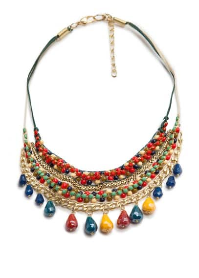 Bead multicolor necklace