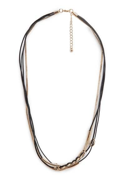 Combi leather necklace