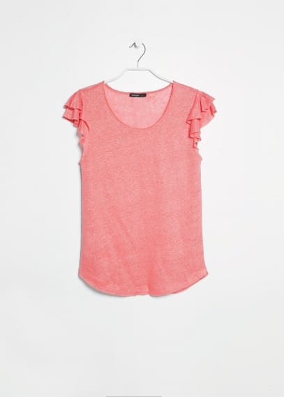 Petal sleeve t-shirt
