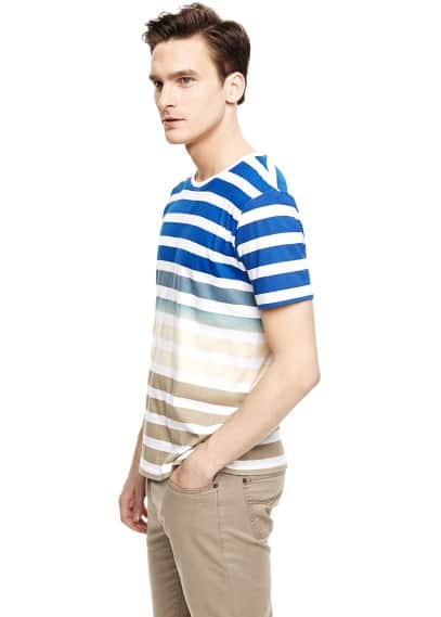 Ombré striped t-shirt