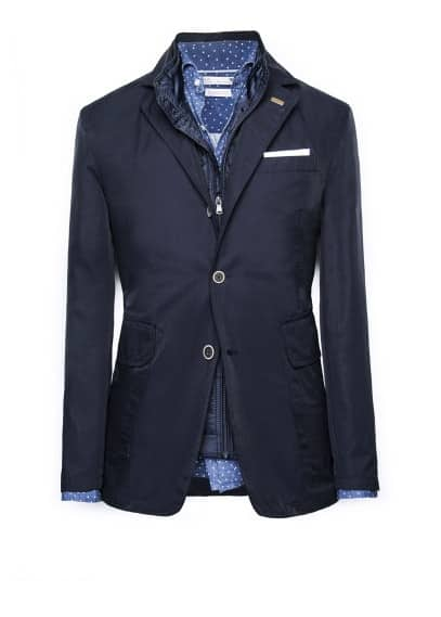 Detachable gilet blazer