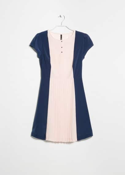 Babydoll pleated dress