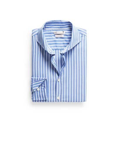 Camisa slim-fit Oxford rayas