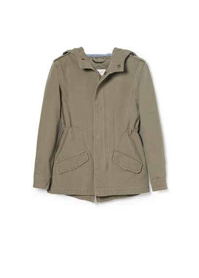 Adjustable waist cotton parka