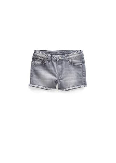 Short denim gris