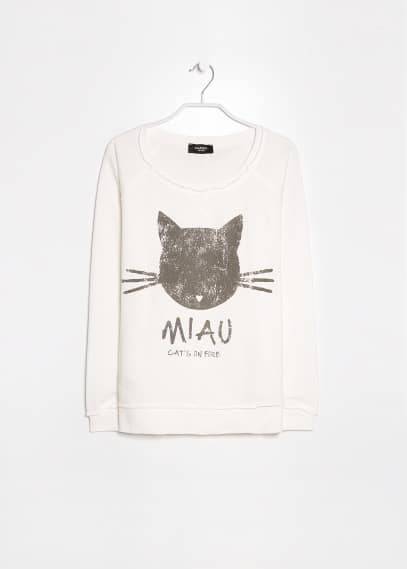 Miau cotton sweatshirt