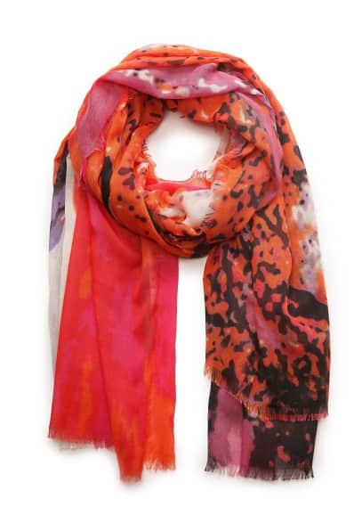 Watercolor print scarf