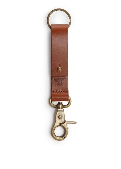 Leather key-ring