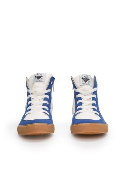 Bicolor high top sneakers