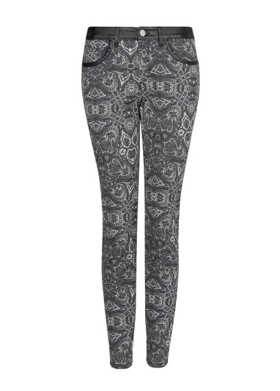 Baroque slim-fit trousers