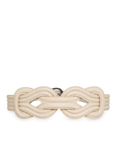 Intertwined sash belt
