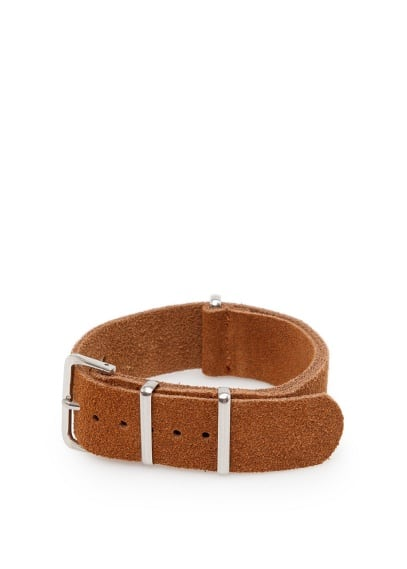 Adjustable suede bracelet
