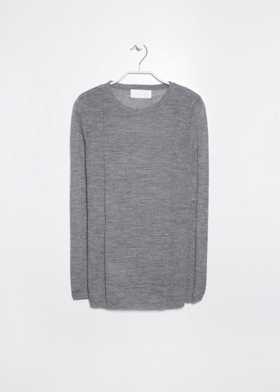 PREMIUM - Ribbed panel sweater