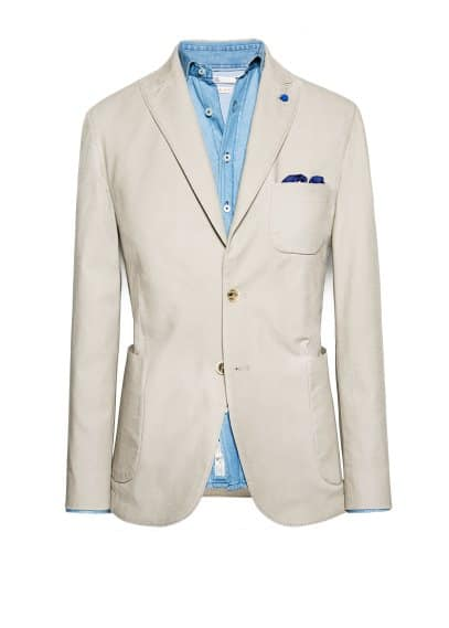 Cotton canvas blazer