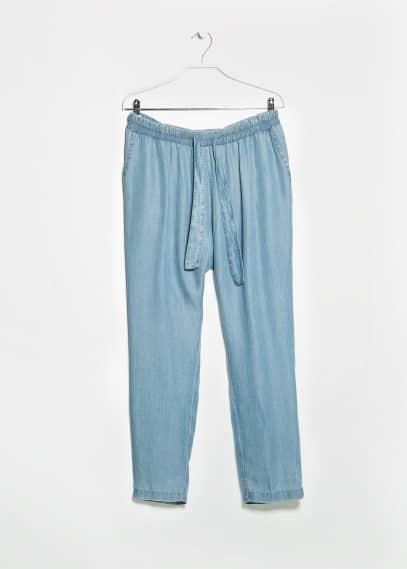 Tencel baggy trousers