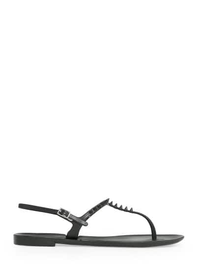 Rubberen teensandalen met spikes