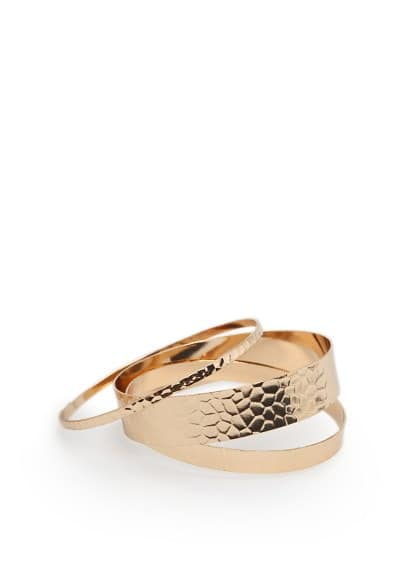 Embossed bangle set