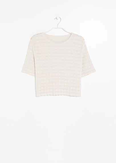 PREMIUM - Check cropped sweater