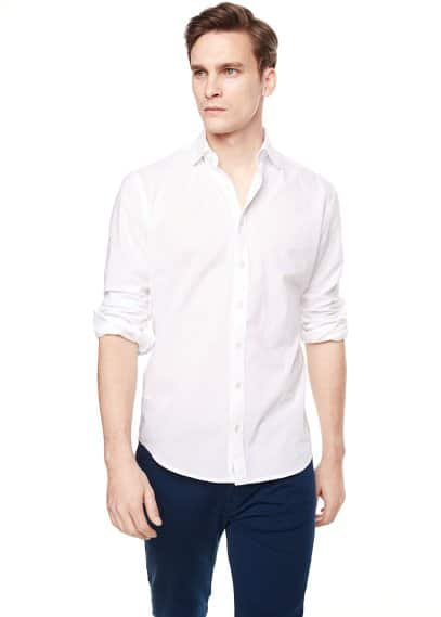 Camisa slim-fit voile