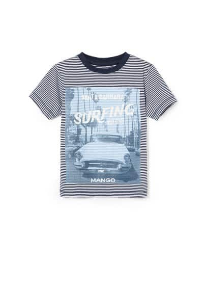 Surfing striped t-shirt
