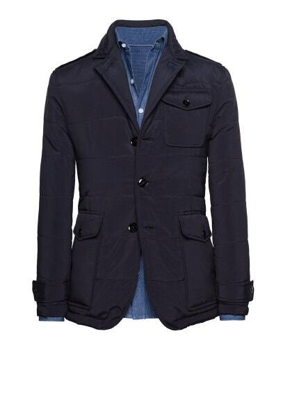 Multi-pocket padded blazer