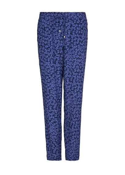 Printed lightweight baggy trousers