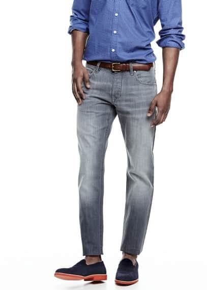 Grau Slim Fit Jeans Steve