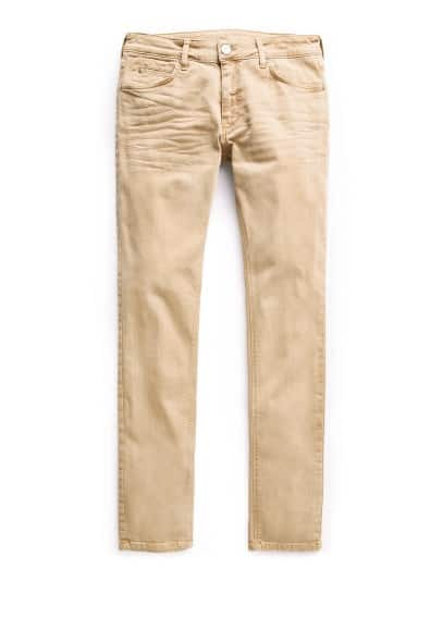 Geelbruine Alex slim-fit jeans