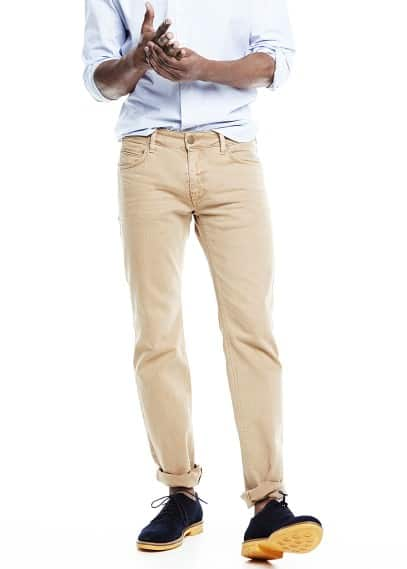 Jeans Alex slim-fit beige scuro