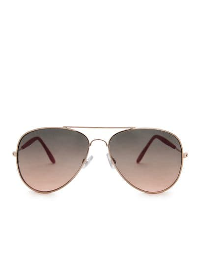 Acetate arm aviator sunglasses