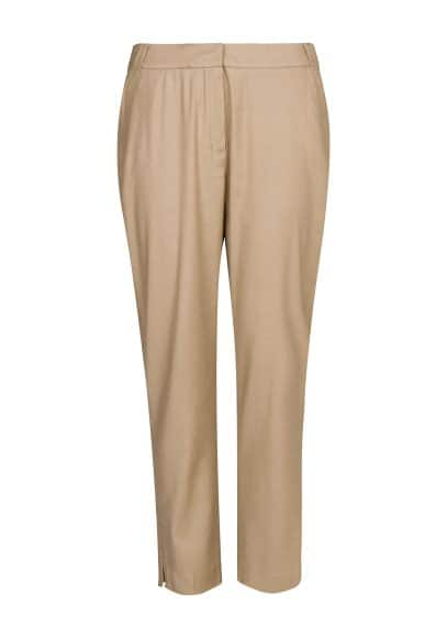 Linen-blend cropped trousers