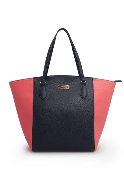 Sac shopper bicolore