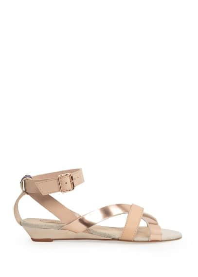 Metallic detail sandals